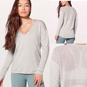 Lululemon Still Movement Sweater Heathered Nimbus